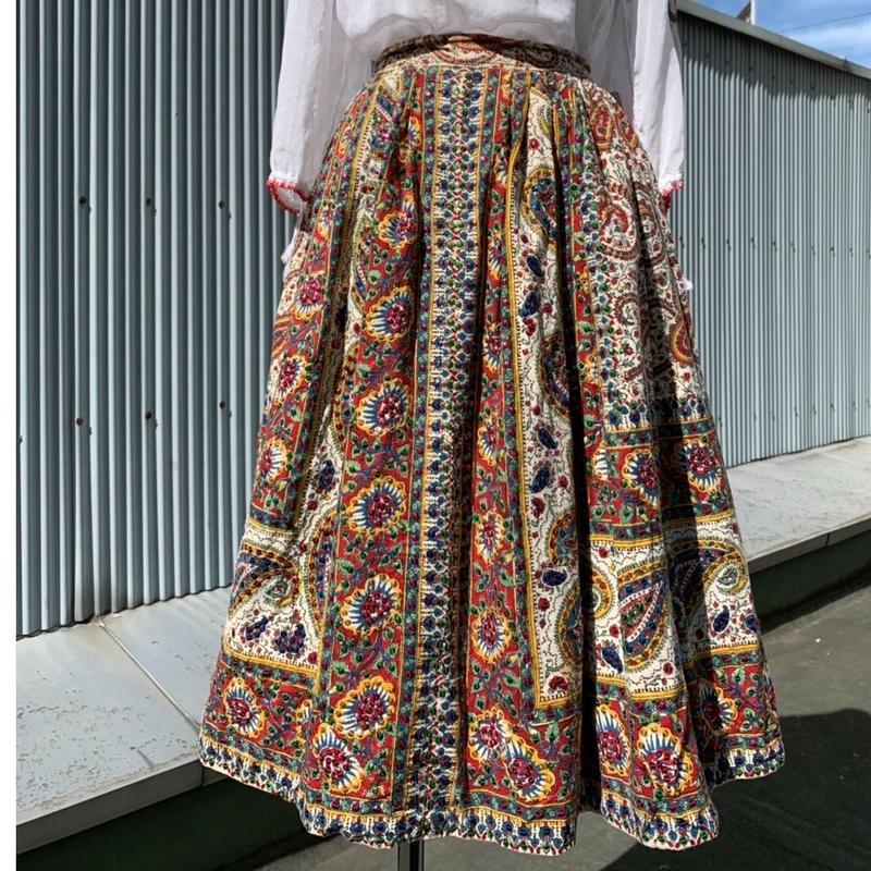 50s Spangle Paisley Skirt