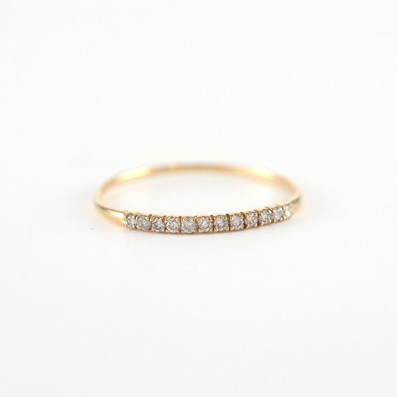 K18 イエローゴールド ダイアモンド エタニティ リング