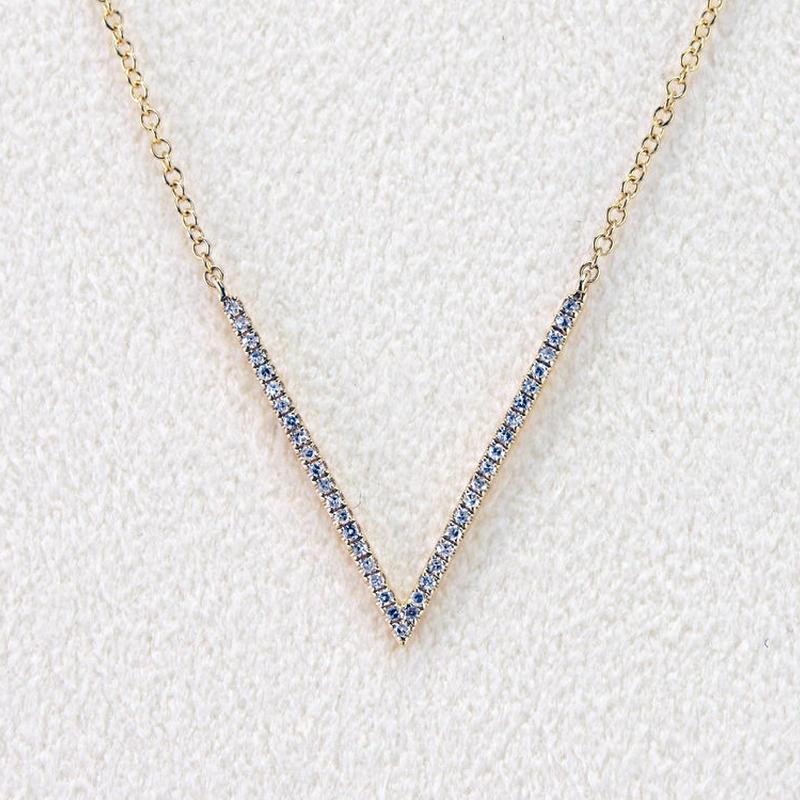 BRISKER  K18イエローゴールドダイアモンドネックレス
