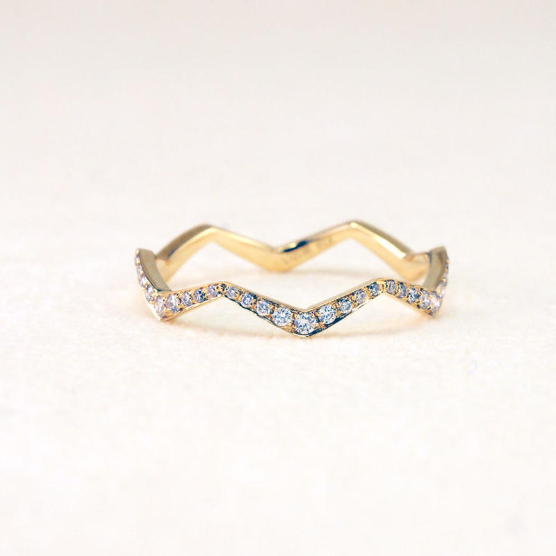 BRISKER  K18イエローゴールドダイアモンドリング