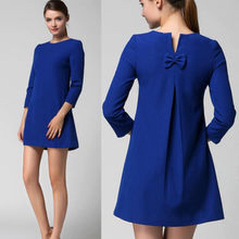 42625783ef4cf 海外インポートセレクトロイヤルブルーワンピースドレス青色