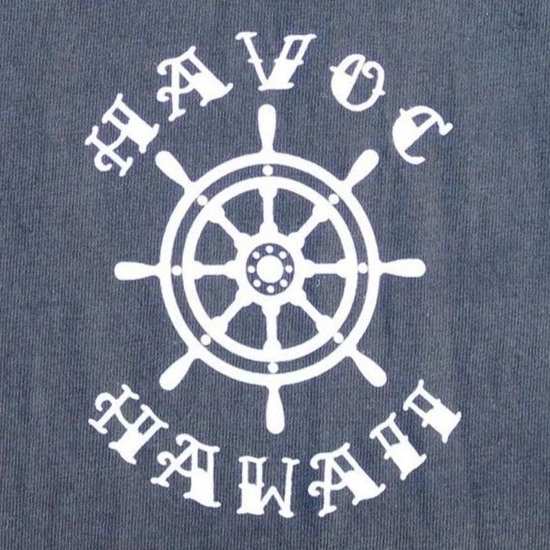 HAVOC HAWAII CLOTHING   アンカーTshirts  Black/White