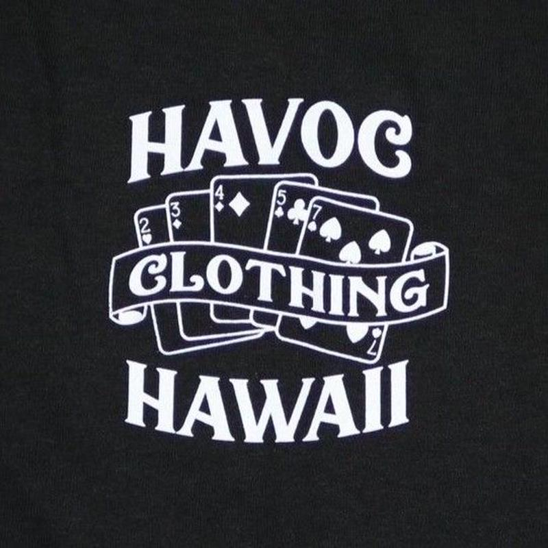 HAVOC HAWAII CLOTHING     OUTTA LUCK   Tshirts  ブラック/ホワイト