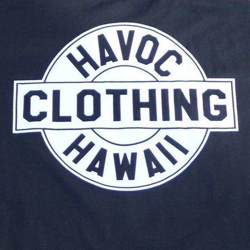 HAVOC HAWAII CLOTHING     HAVOC Tshirts     Black/White
