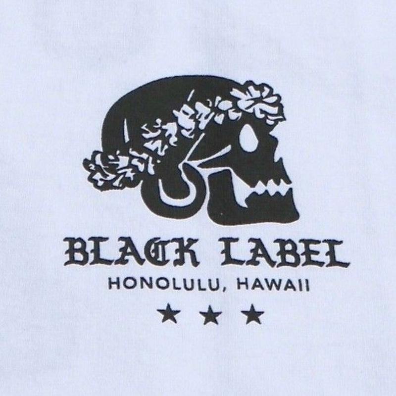 BLACK LABEL  HI   スカル T-shirts ホワイト/ブラック