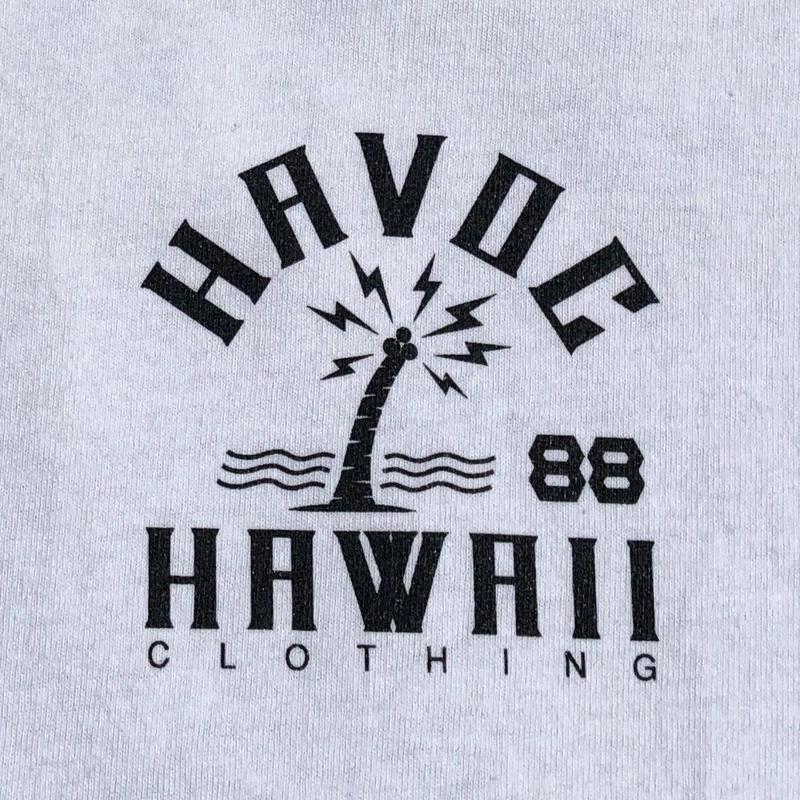 HAVOC HAWAII CLOTHING     HAVOC CITY T-shirts ホワイト/ブラック