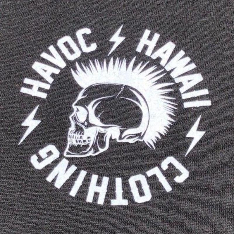 HAVOC HAWAII CLOTHING      Rock T-shirts ブラック/ホワイト