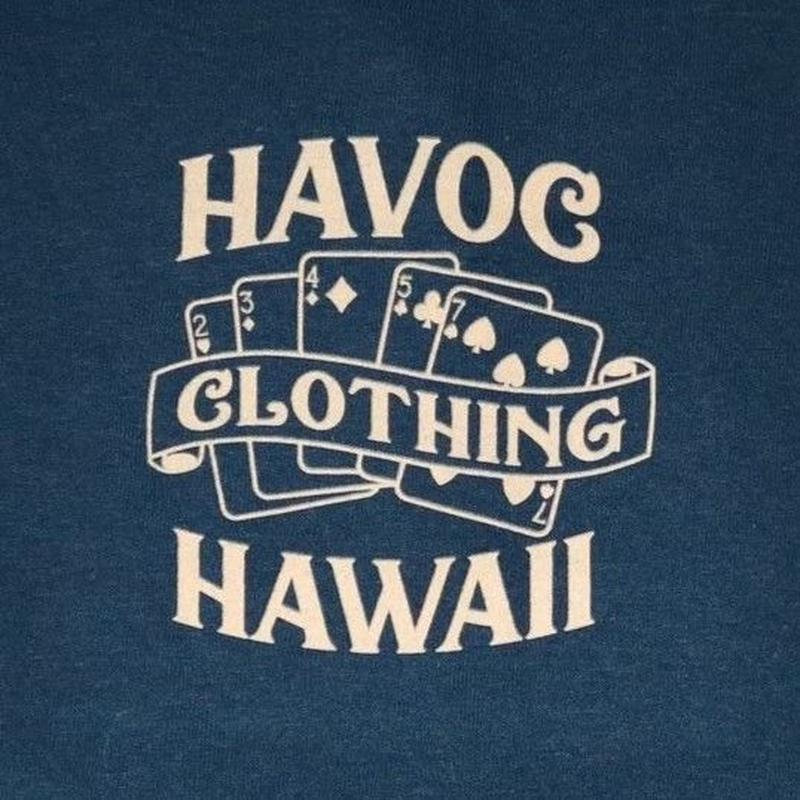 HAVOC HAWAII CLOTHING     OUTTA LUCK   Tshirts  ネイビー/ベージュ