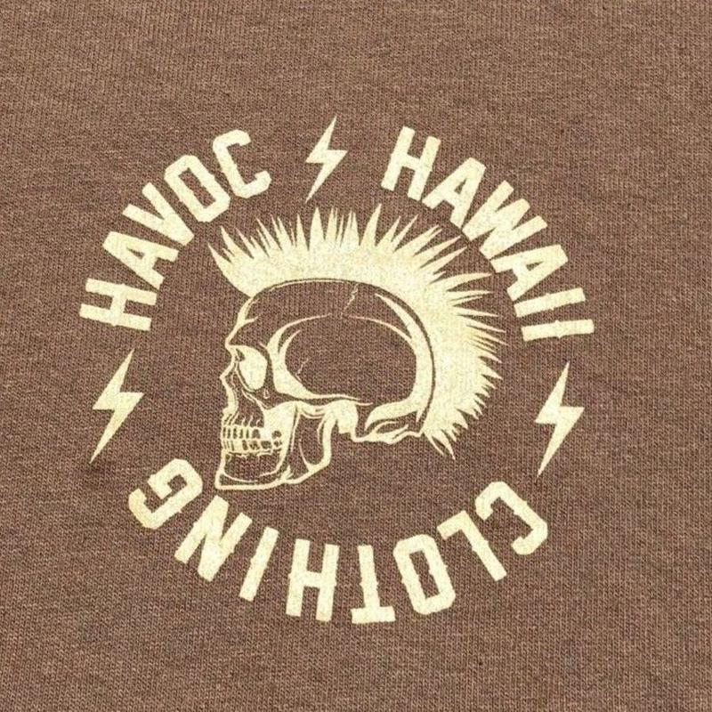 HAVOC HAWAII CLOTHING  Rock T-shirts ベージュ/カーキ