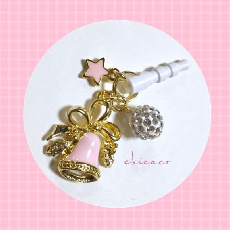 アロマ香るイヤホンジャック 🔔&★ pink
