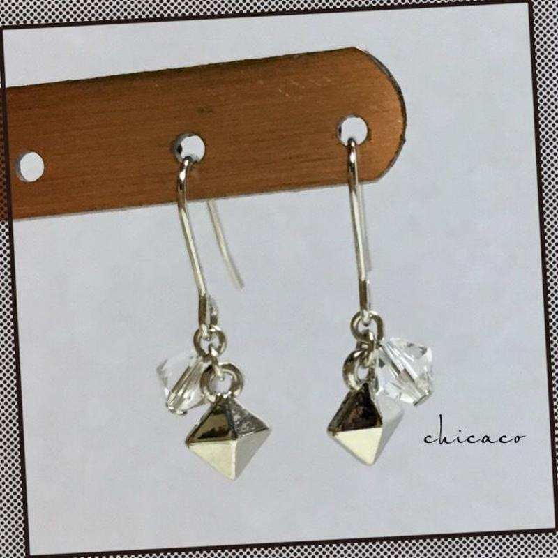 SWAROVSKIスタッズピアス/イヤリング silver