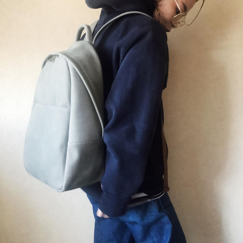 [ lether  backpack] 全3色