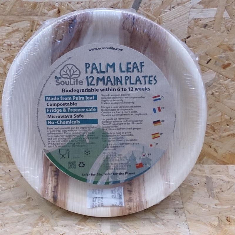 EcoSouLife / PALM LEAF Main Plate 12PC (25cm)