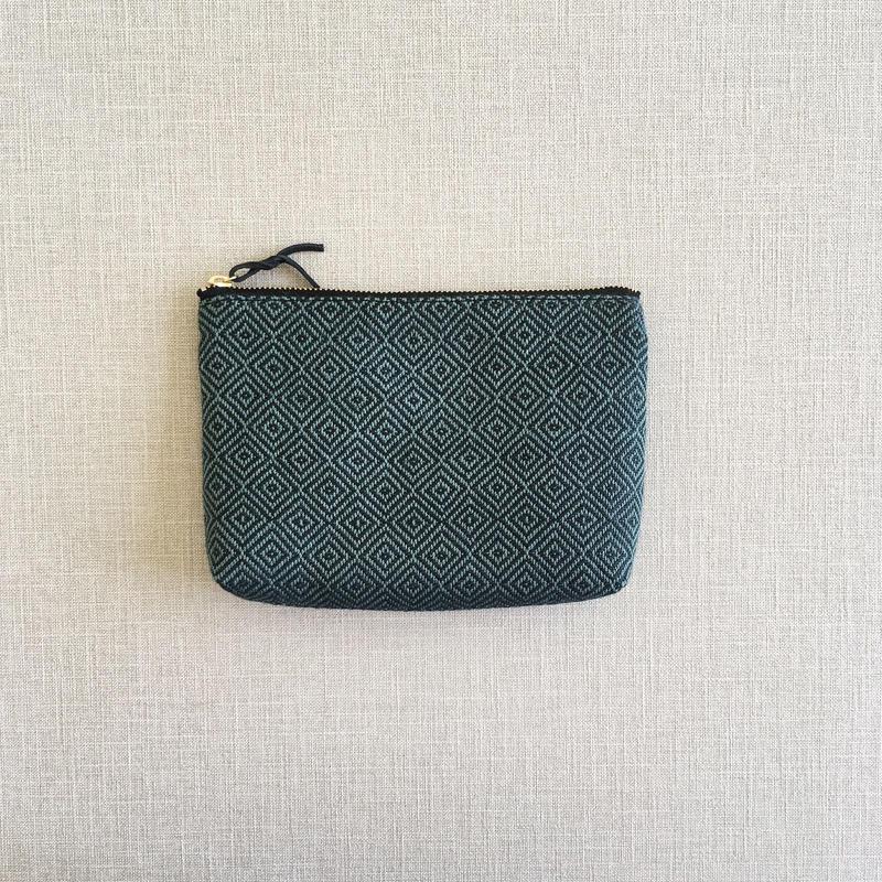 手織り布のメイクポーチ (Make up bag  Maurice bird's-eye )