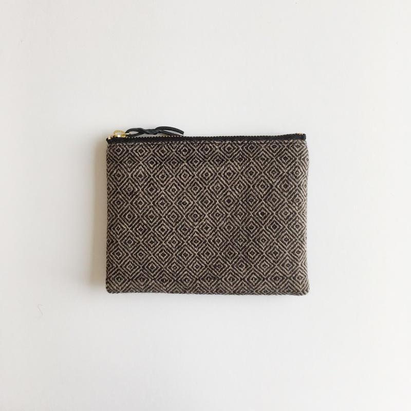 手織り布ウールミニポーチ ( Accessory case bird's-eye)