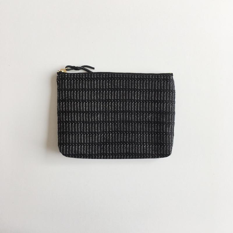 手織り布ポーチ (ブラックアリニア/Black Alinea Accessory case2)