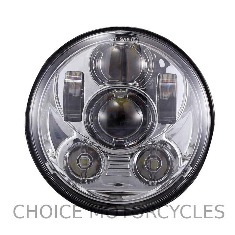 LEDプロジェクターヘッドライト5-3/4クローム
