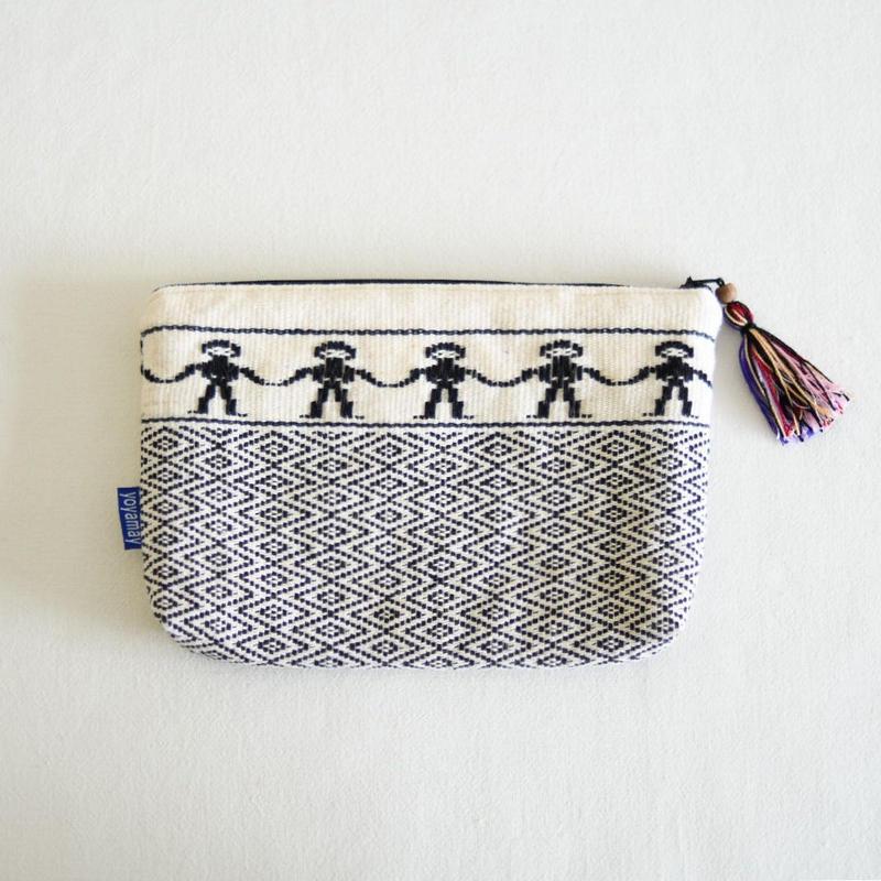ミャンマー・チン族  手織り布ポーチ