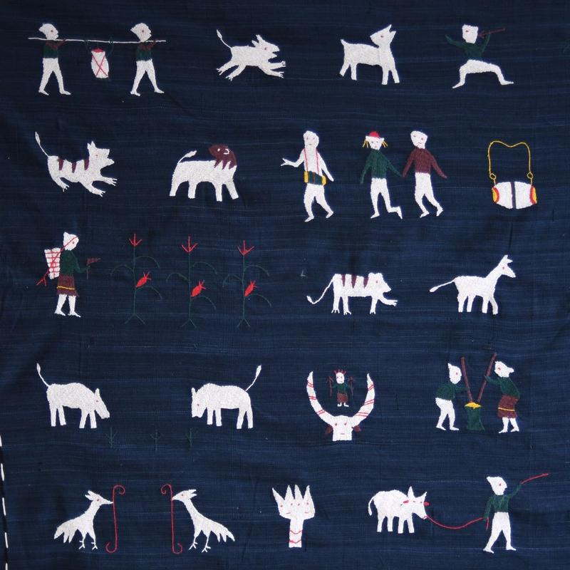ミャンマー・ナガ族 刺繍クロス(c)