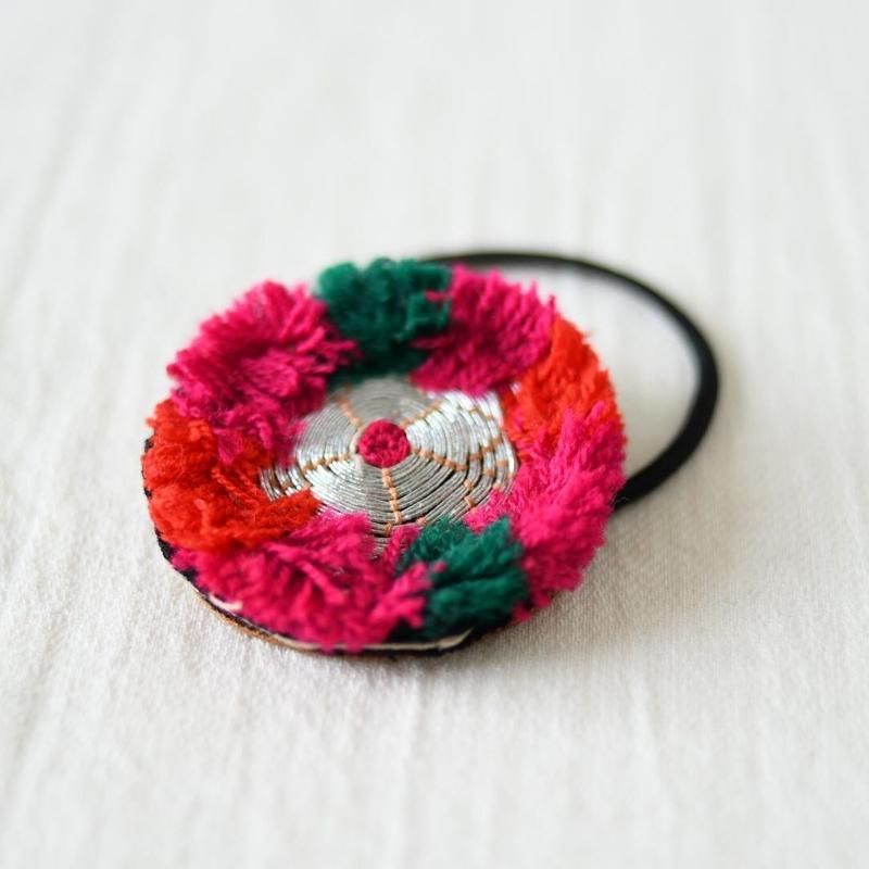 アフガニスタン 刺繍髪留め(a)