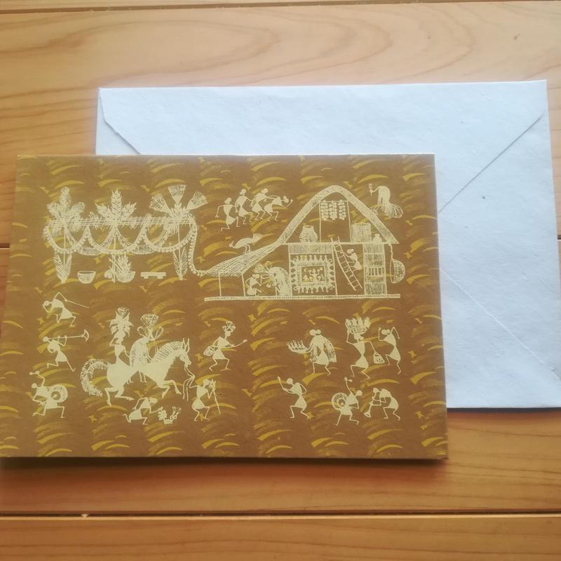 ワルリー族のカードと封筒