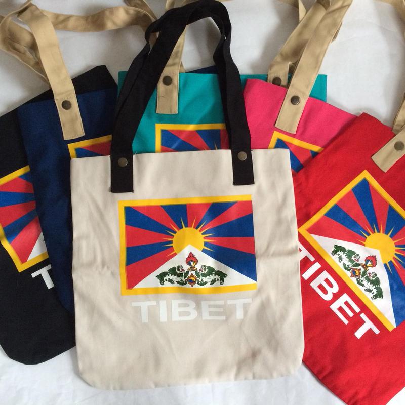 Tibet チベタン トートバック(チベット旗)小 6色