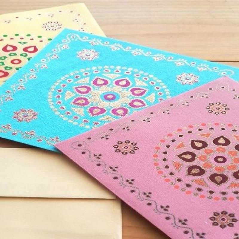 正方形カード&封筒 5枚組   RANGOLI