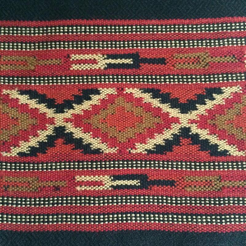 クルー手織りショール 菱形