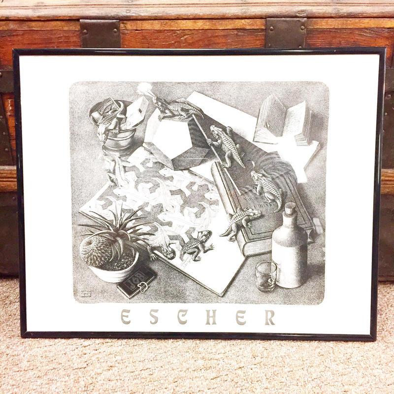 ビンテージ MC Escher エッシャー 『昆虫類』額入りポスター / 古着 ビンテージ 絵