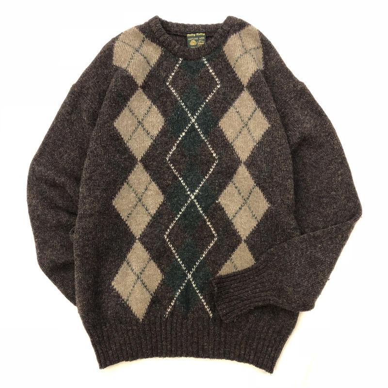 Vintage アイルランド製 アーガイル柄 セーター / 古着 ビンテージ