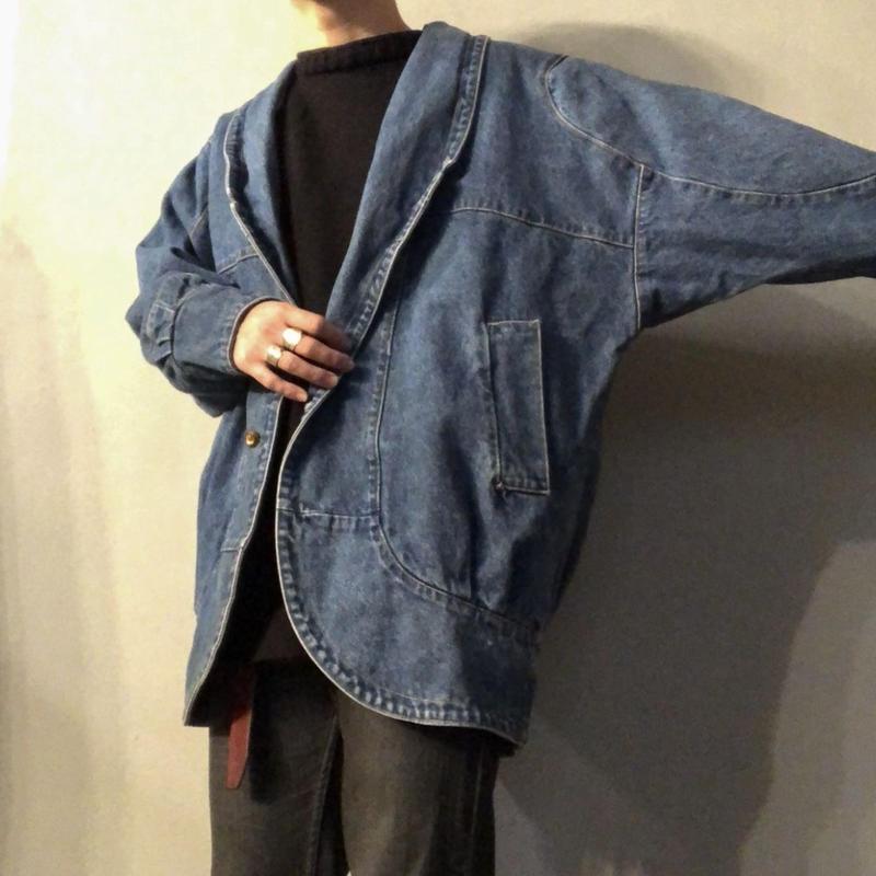 1980's 切り替えデザイン ビッグサイズ デニムジャケット / 古着 ビンテージ