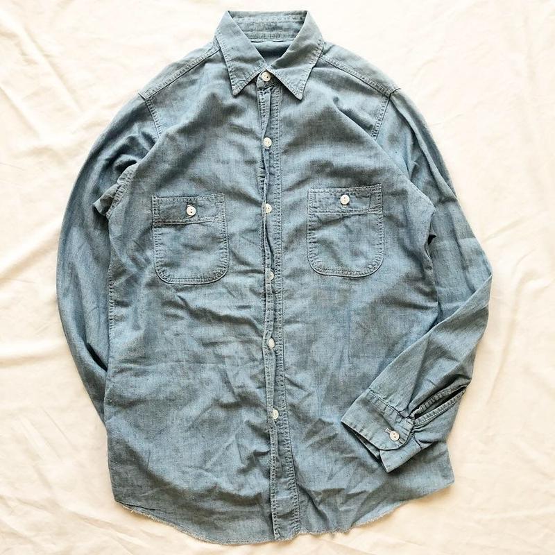 Vintage 1950's~1960's ワーク シャンブレーシャツ / 古着 ビンテージ