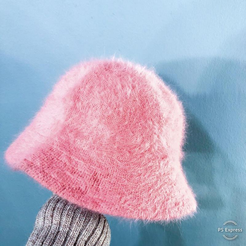 ピンク アンゴララビットヘアー ハット / 古着 ビンテージ