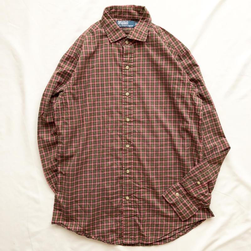 Polo Ralph Lauren ポロラルフローレン チェックシャツ/古着 ビンテージ