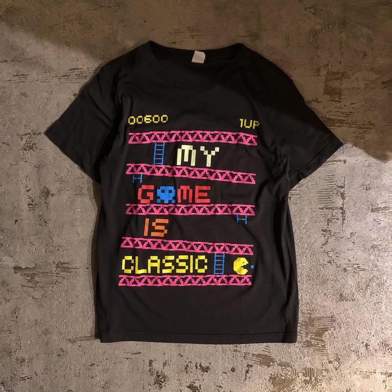 1990's~ USA製 ブラック パックマン Tシャツ / 古着 ビンテージ