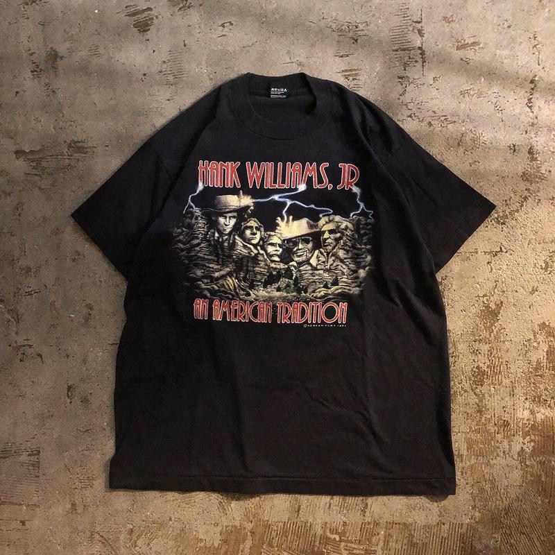 1990's~ USA製 HANK WILLIAMS JR バンドTシャツ/古着 ビンテージ