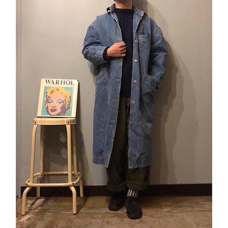 1980's~ デザイン デニム ロングコート / 古着 ビンテージ