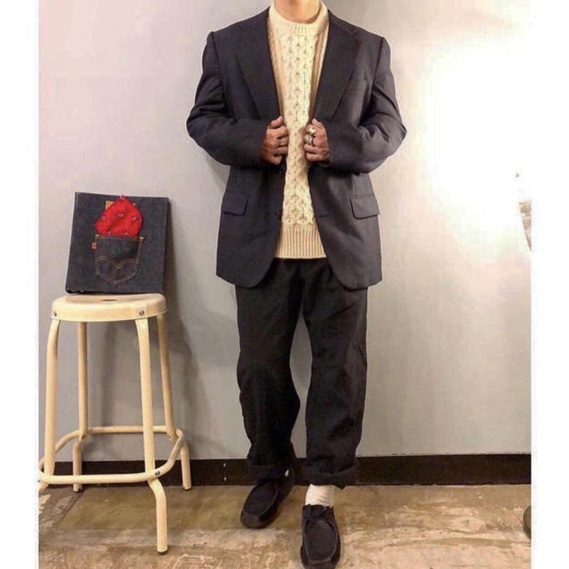 Burberrys'×BARNEYS NEWYORK ウール チェック柄 テーラードジャケット / 古着 ビンテージ バーバリー