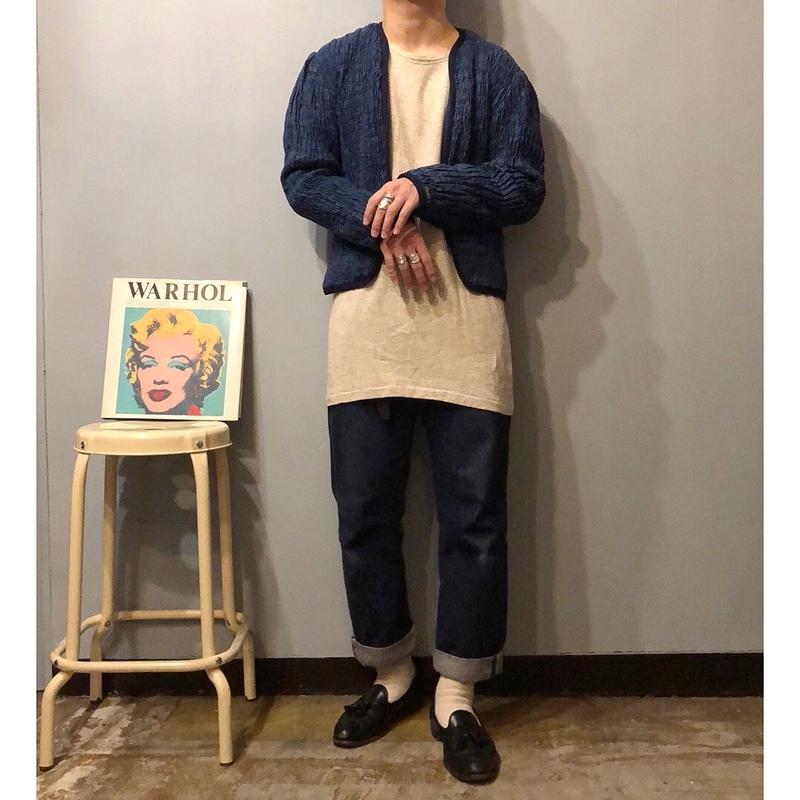 1980's~ USA製 BIS くしゅくしゅデザイン デニムジャケット / 古着 ビンテージ