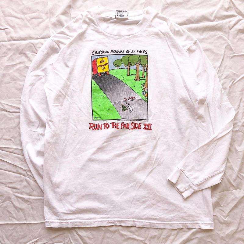 "1982's USA製 ""RUN TO THE FAR SIDE XVI"" 両面プリント ロンTee / 古着 ビンテージ"