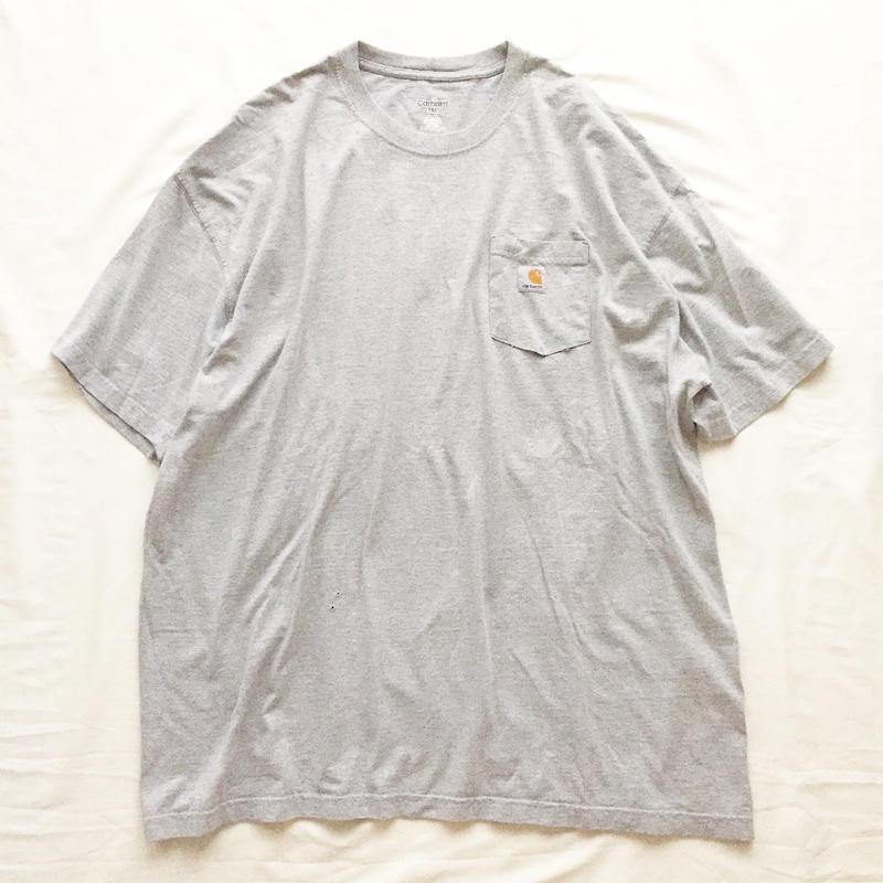 ビッグサイズ XXXL Carhartt カーハート グレー ポケットTシャツ / 古着 ビンテージ