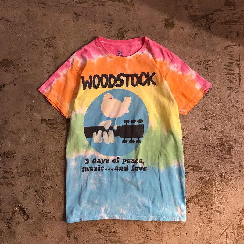 WOODSTOCK ウッドストック タイダイ Tシャツ / 古着 ビンテージ