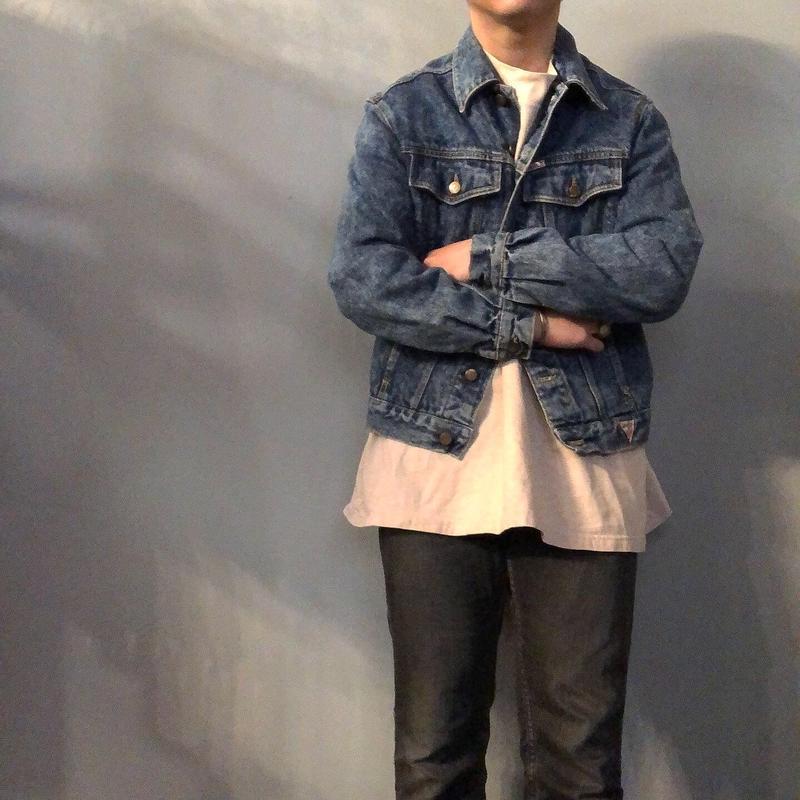 1990's~ USA製 GUESS デニムジャケット / 古着 ビンテージ ジージャン ゲス