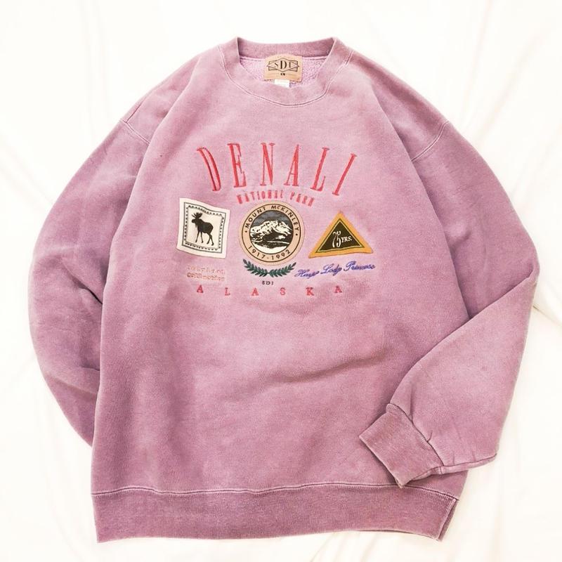 1990's~ USA製 刺繍×ロゴ スウェット / 古着 ビンテージ