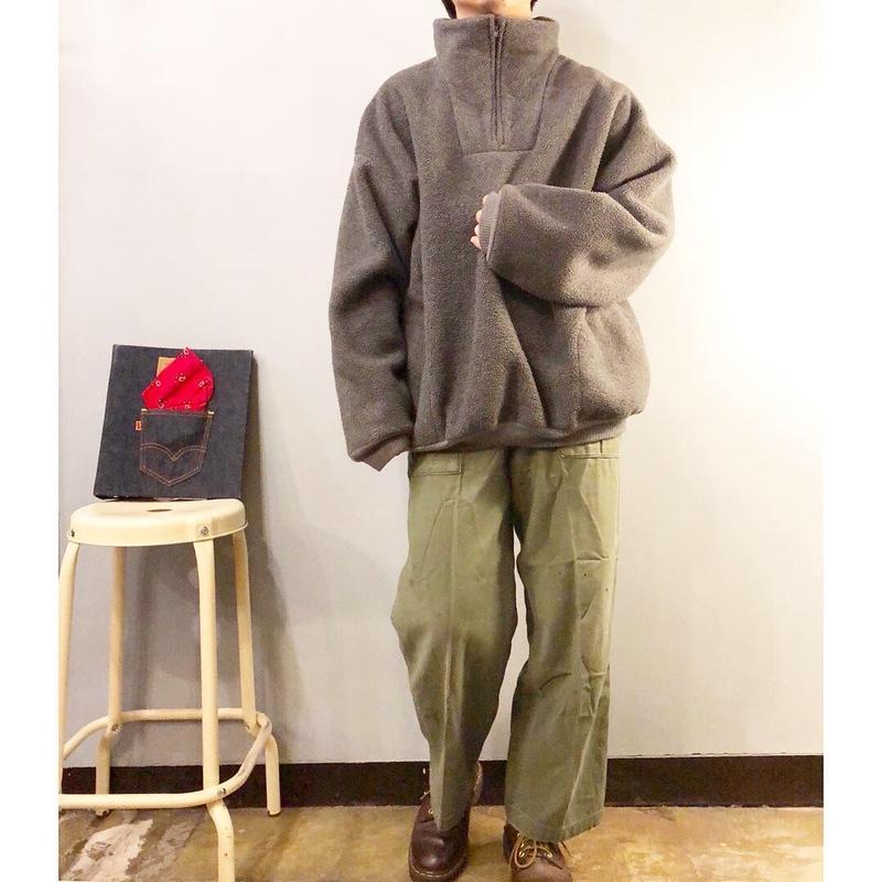 Vintage 1970's~ ツートンカラー ハーフジップ フリースジャケット / 古着 ビンテージ