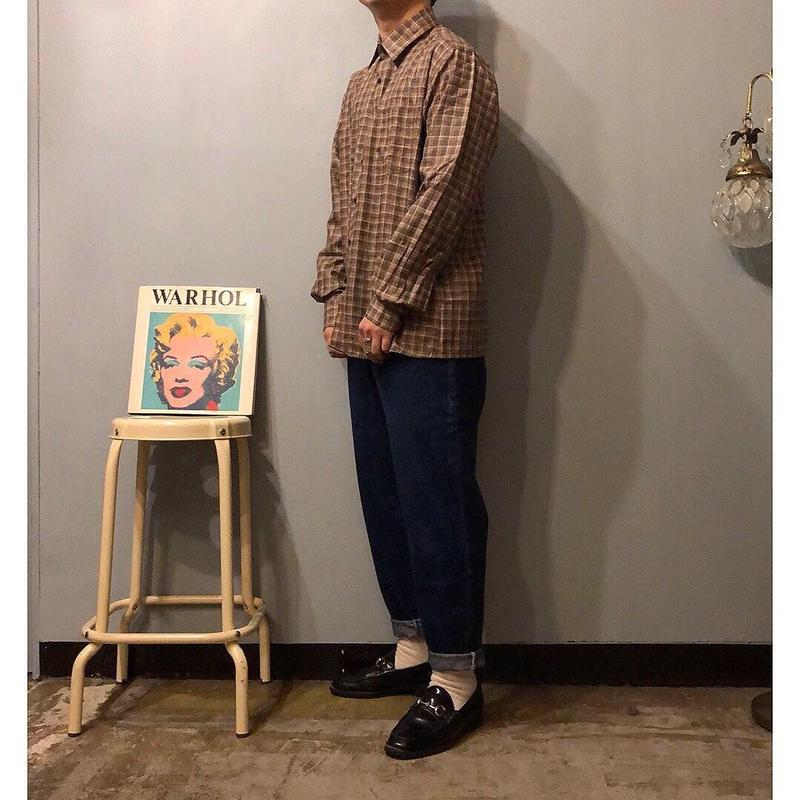 NOS チェック柄 リネンシャツ / 古着  ビンテージ