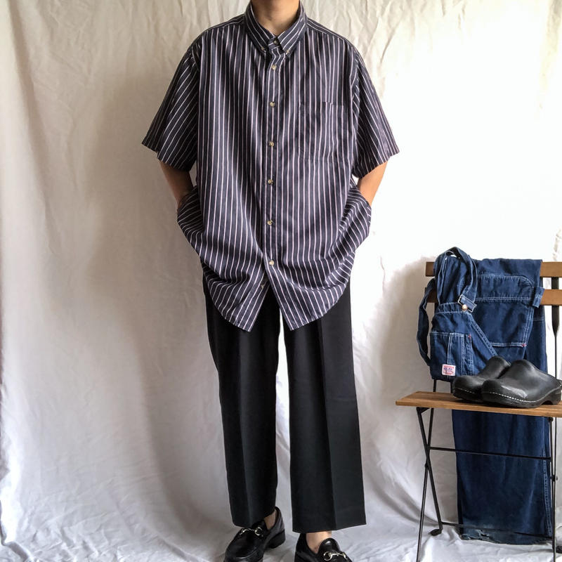 """KING SIZE"" super bigsize BD stripe pattern S/S shirt"