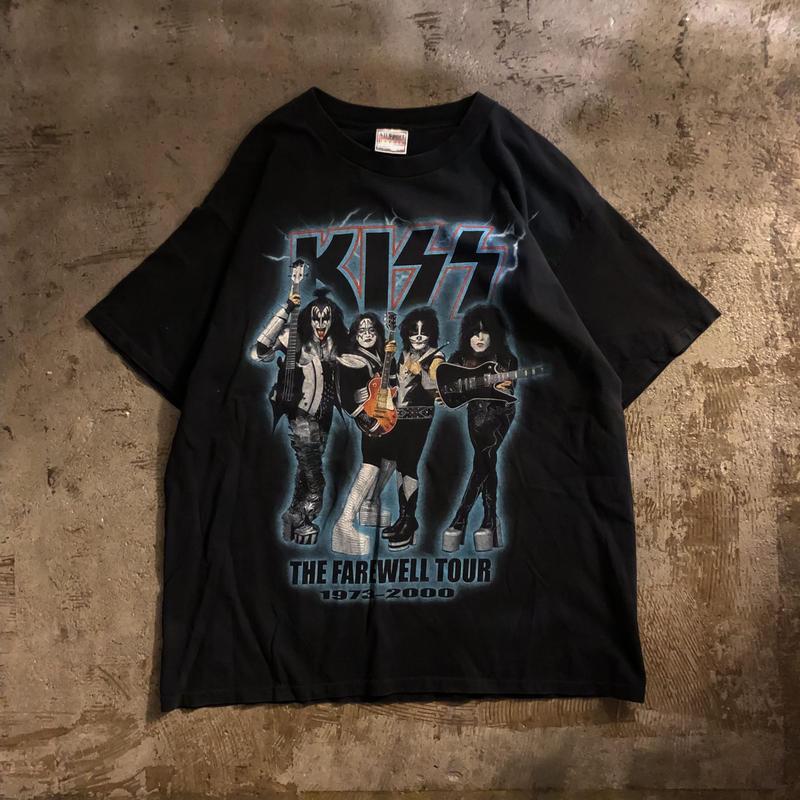 2000's KISS キッス 両面プリント バンド ツアー 半袖Tシャツ / 古着 ビンテージ