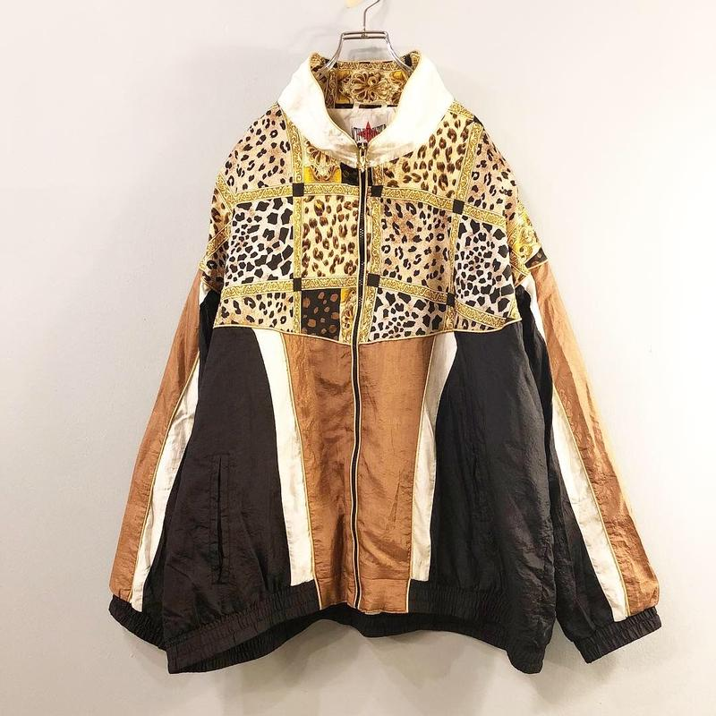 1990's~ ビッグサイズ 切り替えデザイン ナイロンジャケット / 古着 ビンテージ