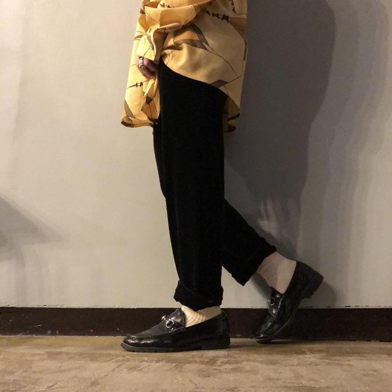 1980's~ USA製 ブラック ベロアパンツ / 古着 ビンテージ
